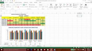 formato de asistencias control de asistencia y calificaciones de todos los bimestres con