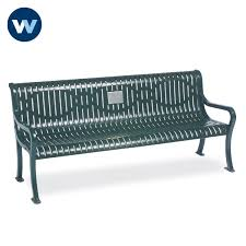 specialty series memorial 6 courtyard bench with plaque loading zoom
