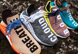 adidas pharrell. after a strong showing at complex con that included one of the hottest drops entire event (the n.e.r.d. x adidas nmd hu), pharrell and are u