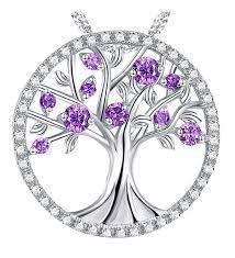 amethyst necklace february birthstone sterling the tree of life birthsone necklace c2189w39y4a