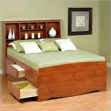 high platform beds with storage. High Platform Beds Queen Tall Bookcase Storage Bed In Cherry Sitting With