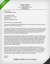 office cover letters office clerk cover letter example cover letters sample resume