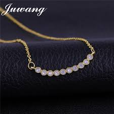 2019 ju brand plant long leaf pendant necklace sliver color chain women cz necklace fashion jewelry whole from chuancai 32 48 dhgate com