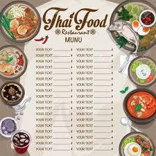 Food Menu Design Menu Thai Food Design Template Graphic Royalty Free Cliparts