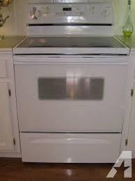 white electric range. Whirlpool White Self Cleaning Electric Range - $250
