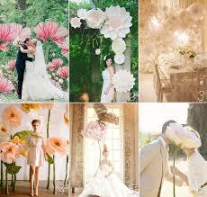 giant paper flowers wedding inspiration print