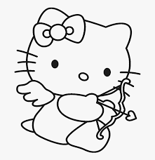 Hello kitty angel coloring pages. Hello Kitty Is Being Hold Doll Coloring Page Hello Kitty Valentine Coloring Pages Hd Png Download Transparent Png Image Pngitem
