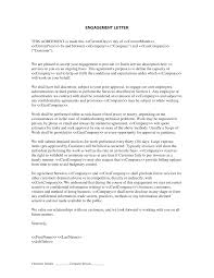 Letter Of Engagement Or Contract Professional Resumes Sample Online