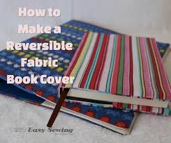 how to make a reversible fabric book cover