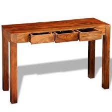 retro hall table. Image Is Loading Solid-Sheesham-Wood-Timber-Console-Table-Cabinet-Sideboard- Retro Hall Table