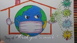 Vẽ Trái Đất Đeo Khẩu Trang Đơn Giản Nhất   How To Draw The Earth Wearing A  Mask