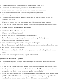 sample teacher interview questions pdf describe your teaching style and how you accommodate the different learning styles of the students in