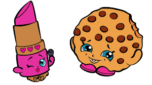 Small Picture Shopkins Coloring Book Pages with Lippy Lips and Kooky Cookie