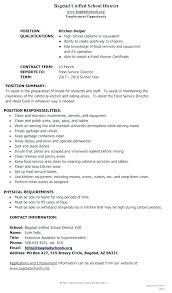 Kitchen Hand Resume Kitchen Help Sample Resume Kynguyen360 Info