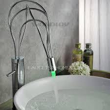 sumerain led thermal chrome 1 handle bathroom sink faucet at