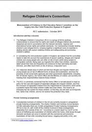 Memorandum Of Evidence To The Education Select Committee On