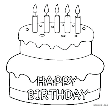 Birthday Cake Coloring Pages Page Color Of Cakes Shopkins Printa
