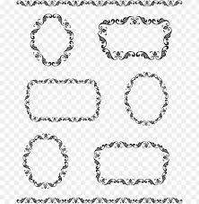 vine border frame vector png image