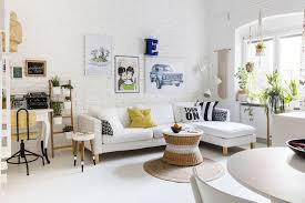 white living room furniture small. White Room With Furniture And House Plants Living Small