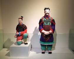 red colored terracotta warriors