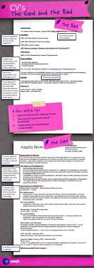Seek Resume Template CV's The good and the bad how to write a killer CV to get the job 1