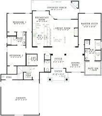 2000 sq ft house plans 1 floor india 4 bedroom rectangular elegant single story or architectures