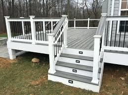 Composite deck ideas Spiced Rum Trex Deck Ideas Deck With Vinyl Rails And Steps In Trex Deck Railing Ideas Legalese Trex Deck Ideas Deck With Vinyl Rails And Steps In Trex Deck Railing