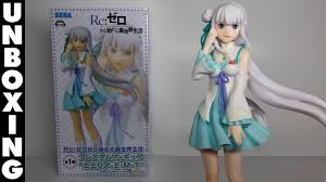 re zero starting life in another world emilia pm figure sega unboxing review