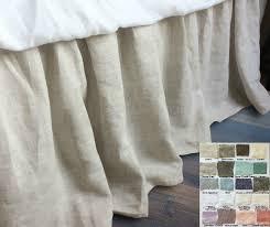 linen bedskirt king.  King Gathered Linen Bed Skirt  Natural Linen On Bedskirt King T