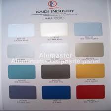 Acp Colour Chart Colour Chart Of Alumaster Aluminum Composite Panel Acp129