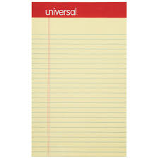 Universal Unv46200 5 X 8 Narrow Ruled Canary Perforated Edge