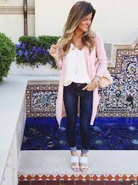 Light Blue Cardigan Outfit Cardigan Outfits Ways To Wear Long Cardigans In Spring