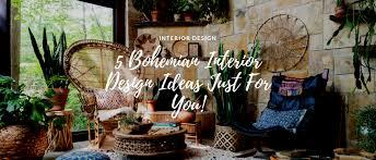 5 bohemian interior design ideas just