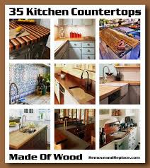 35 kitchen countertops made out of wood