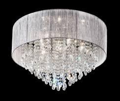 art deco style 7 lamp flush crystal