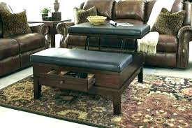 square coffee table ottoman home square coffee table ottoman with storage ottomans contemporary large faux leather