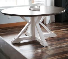 Those beset with more petite dining rooms don't have to miss out on the farmhouse fun, of course. Round Farmhouse Table Ana White