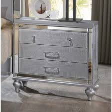 valentino nightstand in silver by new classic  home gallery stores