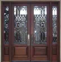 glass double front door. DbyD-1023 · Estate Exterior Wood Front Entry Doors DbyD-1024 Glass Double Door G