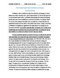 lord of the flies essay on savagery essay about lord of the flies civilization vs savagery bartleby