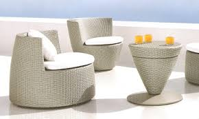 DEDON RAYN  Lounge Chair Incl Right Armrest  Calico Textile Dedon Outdoor Furniture Nz