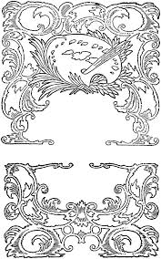 scroll picture frames vintage rococo and ornaments oh so nifty graphics wooden scroll picture frames
