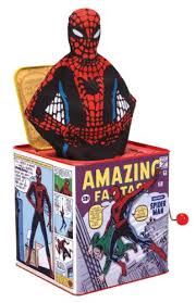 jack in the box toy. spiderman jack in box the toy