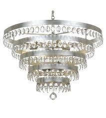 9 light chandelier in antique silver portfolio lyndsay brushed nickel 9 light chandelier