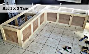 kitchen banquette furniture. Use 1x3s To Trim A Corner Banquette Bench, Pinterior Designer Featured On Remodelaholic Kitchen Furniture