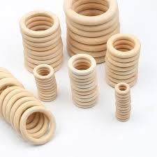 12 100MM <b>DIY Wooden Beads Connectors</b> Circles Rings ...