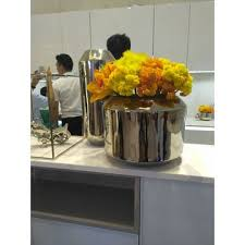 office flower pots. China 304 Stainless Steel Flower Pot For Hotel Office Hall Pots T