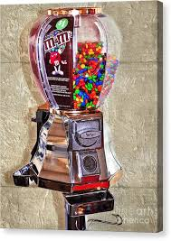 Old Candy Vending Machine Amazing Candy Vending Machine Canvas Prints Fine Art America