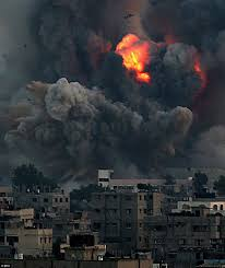 imagine a photo essay for gaza american everyman an explosion on the gaza strip as one of the sites targeted by i forces goes