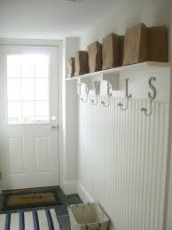 Beadboard Entryway Coat Rack Blue Mud Room Cottage laundry room BHG 36